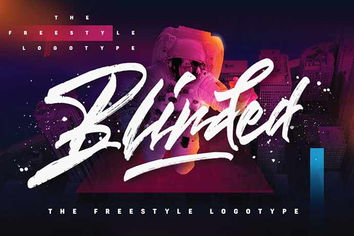 Blinded - 41+ Important Logo Design Fonts For Graphic Designer [year]