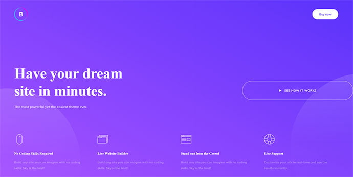 Boo-2 - 36+ Wonderful Gradients Designs WordPress Theme [year]