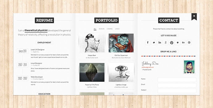 BookCard-WP - 34+ Marvelous WordPress Resume Themes [year]