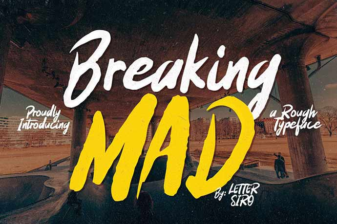 Breaking-Mad - 56+ Awesome Free Movie Poster Title Extra Bold Fonts [year]