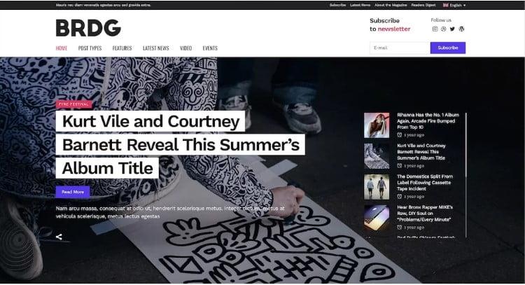 Bridge-2 - 41+ Stunning Responsive Music Website Templates [year]