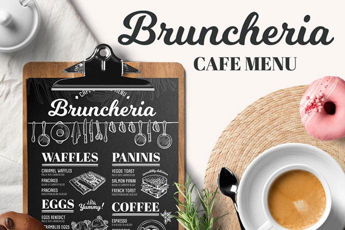 Brunch-Menu-Template - 36+ Stunning Hand Drawn Restaurant Menu Design PSD Templates [year]