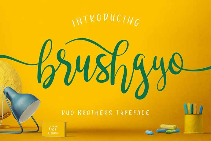 Brushgyo-Typeface - 41+ Important Logo Design Fonts For Graphic Designer [year]