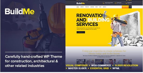 BuildMe - 37+ Top WordPress Themes For Construction Company [year]