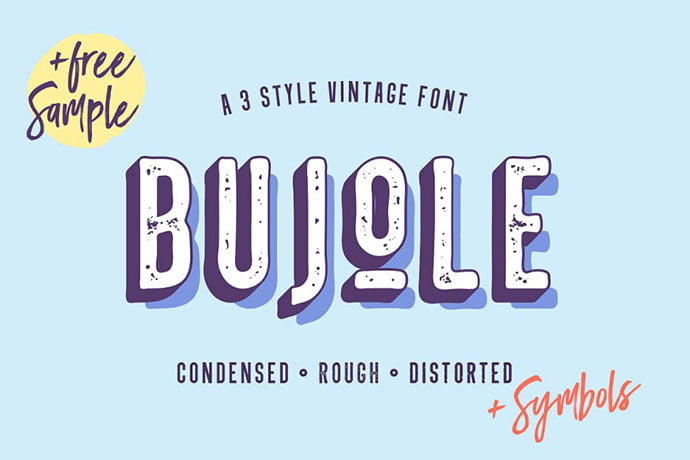 Bujole - 32+ Honestly Impressive Distorted Fonts [year]