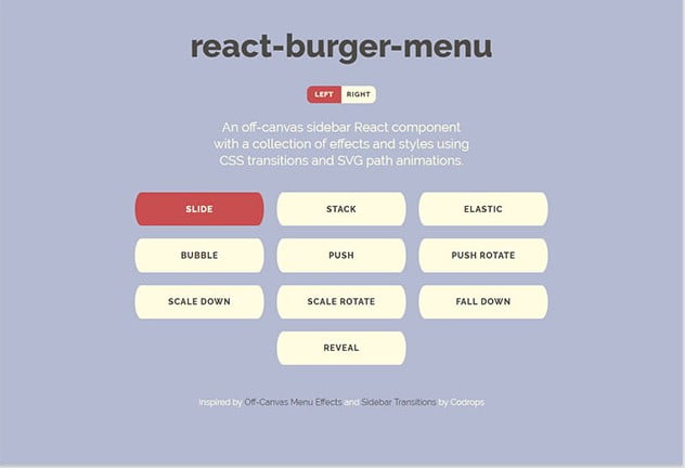 Burger-menu - 61+ Free React UI Component Libraries [year]
