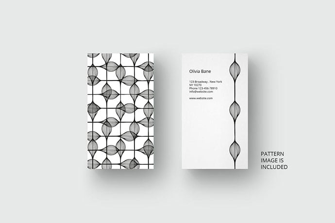 Business-card-template-with-black-pattern - 46+ Photographer, Artist & Designer Business Card Templates [year]