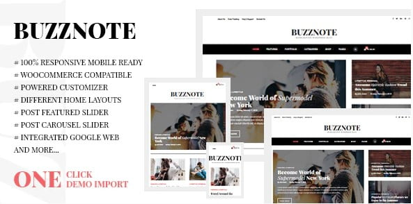 Buzznote - 33+ WordPress Themes To Make Your Blog Attractive [year]