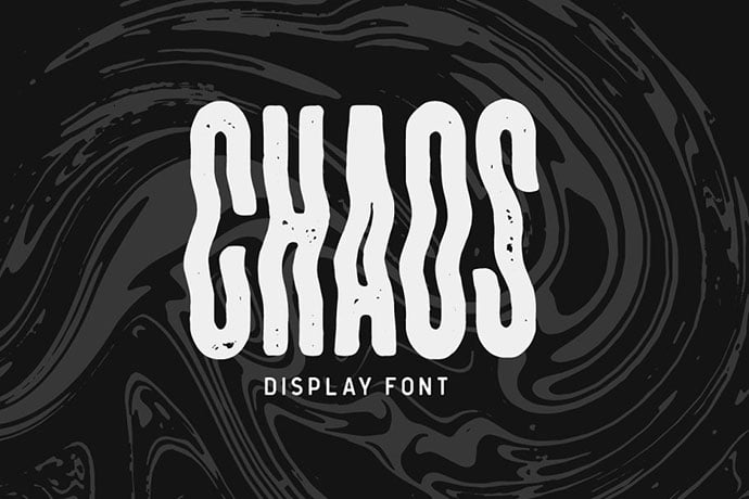 CHAOS-Display-Font - 32+ Honestly Impressive Distorted Fonts [year]