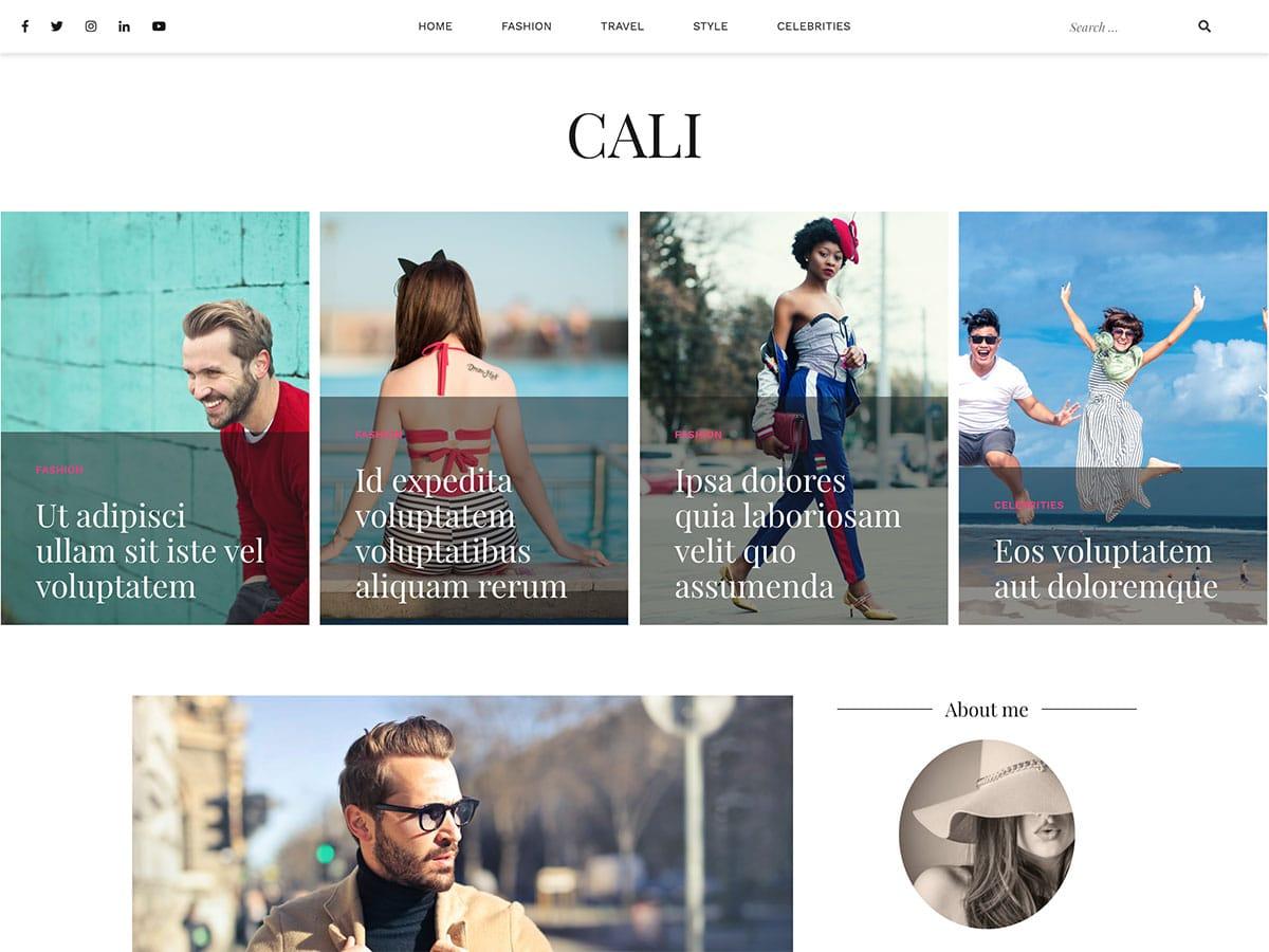 Cali - 43+ Top Free WordPress Blog Themes [year]