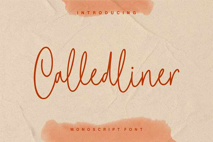 Calledliner - 41+ Important Logo Design Fonts For Graphic Designer [year]