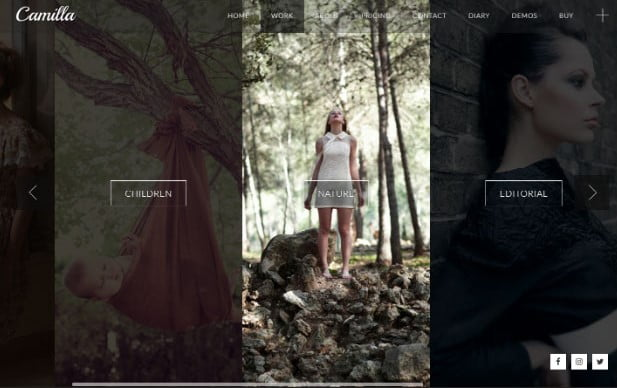 Camilla - 31+ Top WordPress Themes For Landscape Photography Portfolio [year]