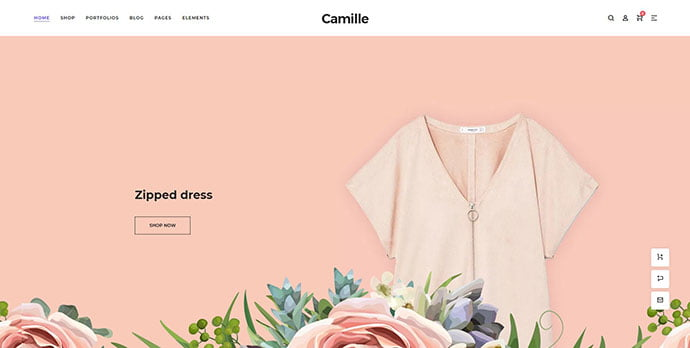 Camille - 31+ Unique Parallax Experience WordPress Themes For Developer [year]