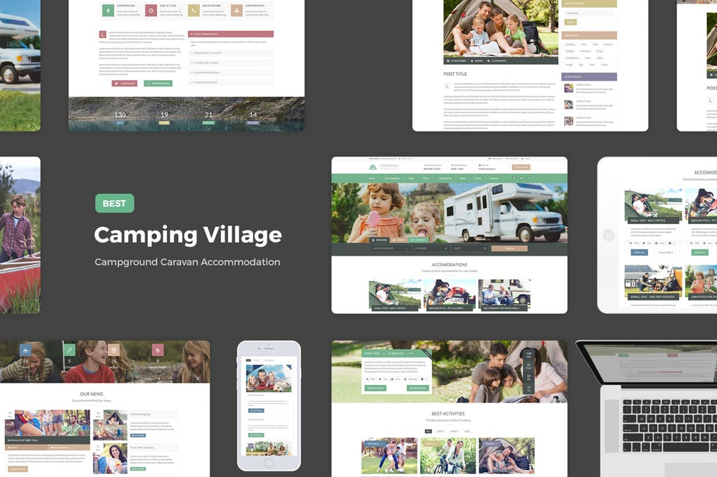 Camping-Village - 46+ Photographer, Artist & Designer Business Card Templates [year]