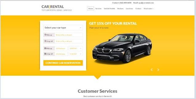 Car-Rental-WordPress-Theme - 36+ Nice Tour & Travel Business WordPress Themes [year]