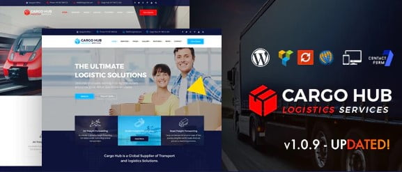 Cargo-HUB - 36+ Stunning WordPress Themes For Transportation [year]