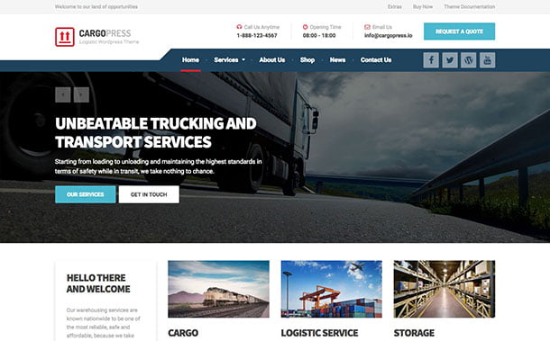 CargoPress - 36+ Stunning WordPress Themes For Transportation [year]