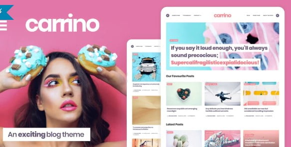 Carrino-1 - 33+ WordPress Themes To Make Your Blog Attractive [year]