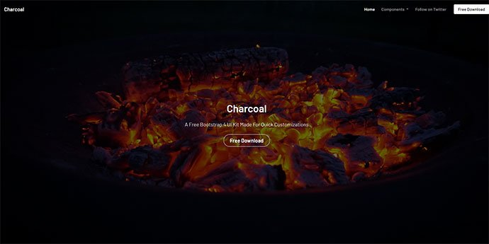 Charcoal - 65+ Amazing Free CSS HTML5 Website Design Templates [year]