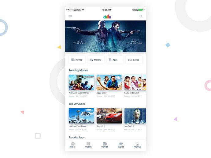 Chillx-Redesign-Concept - 63+ Amazing Film & TV App UI Design Sample [year]