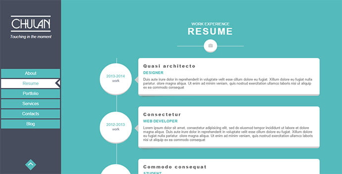 Chulan - 34+ Marvelous WordPress Resume Themes [year]