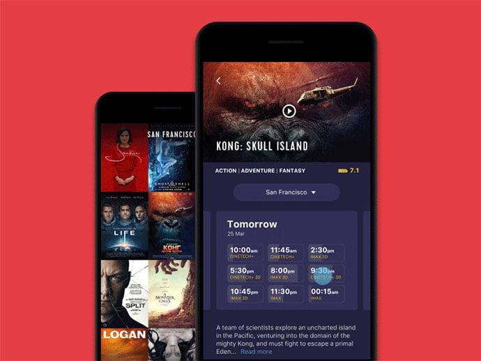 Cinema-App-Interactions - 63+ Amazing Film & TV App UI Design Sample [year]