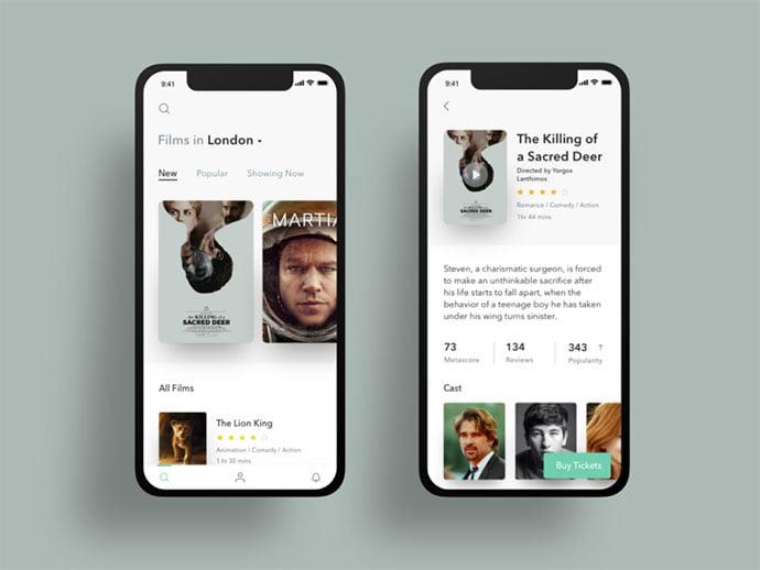 Cinema-Exploration - 63+ Amazing Film & TV App UI Design Sample [year]
