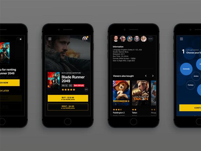 Cinema-Mobile - 63+ Amazing Film & TV App UI Design Sample [year]