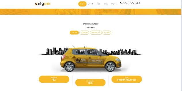 CityCab - 36+ Nice Tour & Travel Business WordPress Themes [year]