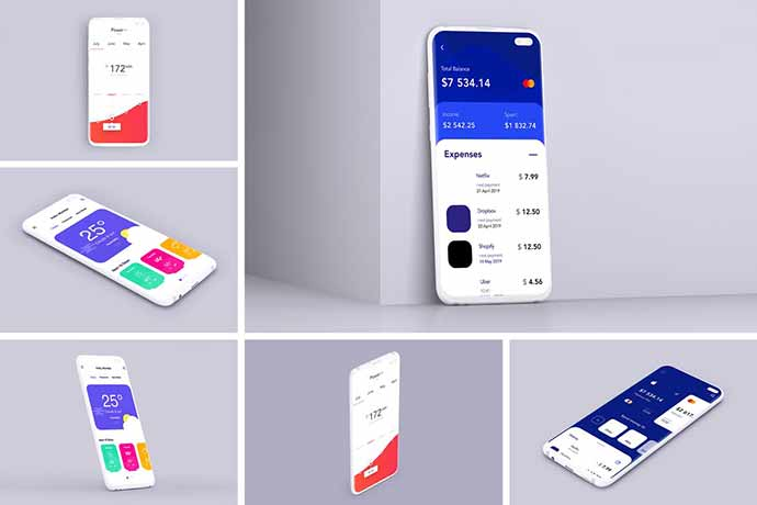 Clay-Mobile-Mockup - 51+ Amazing iOS and Android Phone PSD Mockup Templates [year]