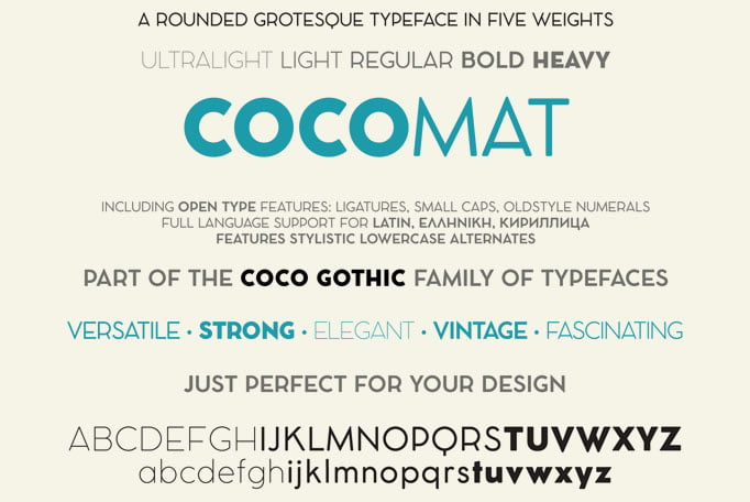Cocomat - 36+ Free Quality Sans-Serif Designer Fonts [year]