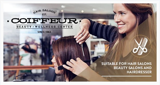 Coiffeur - 31+ Best Hairdresser & Portfolio WordPress Themes [year]