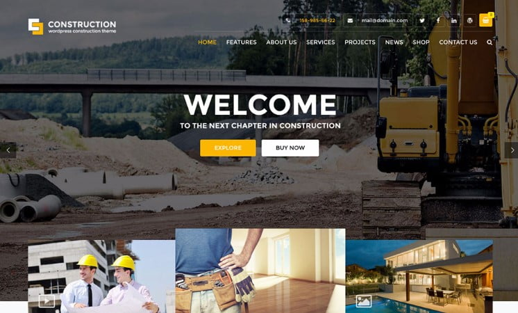 Construction - 37+ Top WordPress Themes For Construction Company [year]