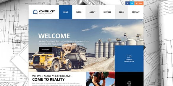 Constructy - 37+ Top WordPress Themes For Construction Company [year]