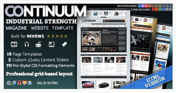 Continuum - 36+ Amazing Tumblr Style WordPress Themes For Developer [year]