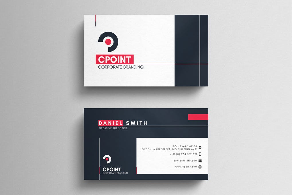 Corporate-Business-Card - 46+ Photographer, Artist & Designer Business Card Templates [year]