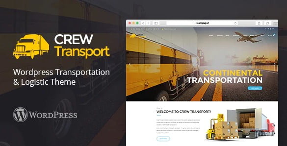 Crewtransport - 36+ Stunning WordPress Themes For Transportation [year]