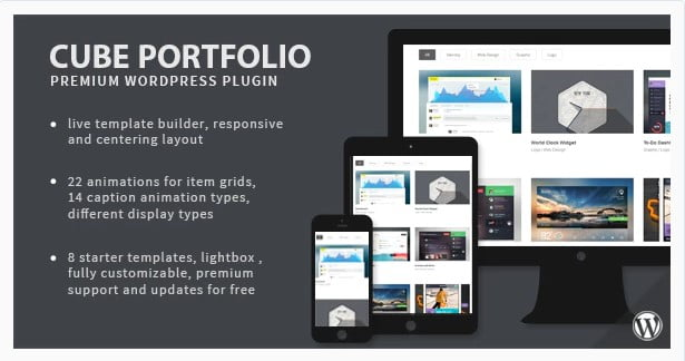 Cube-Portfolio - 28+ Awesome Gallery Plugins For WordPress [year]