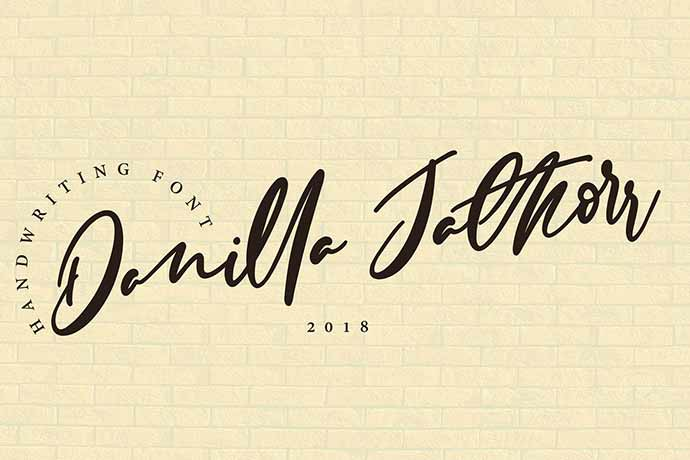 Danilla-Jathorr-1 - 41+ Important Logo Design Fonts For Graphic Designer [year]