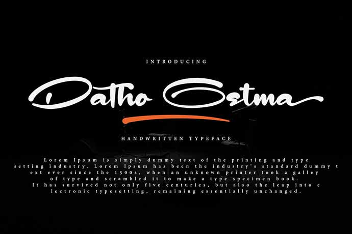 Datho-Ostma - 41+ Important Logo Design Fonts For Graphic Designer [year]