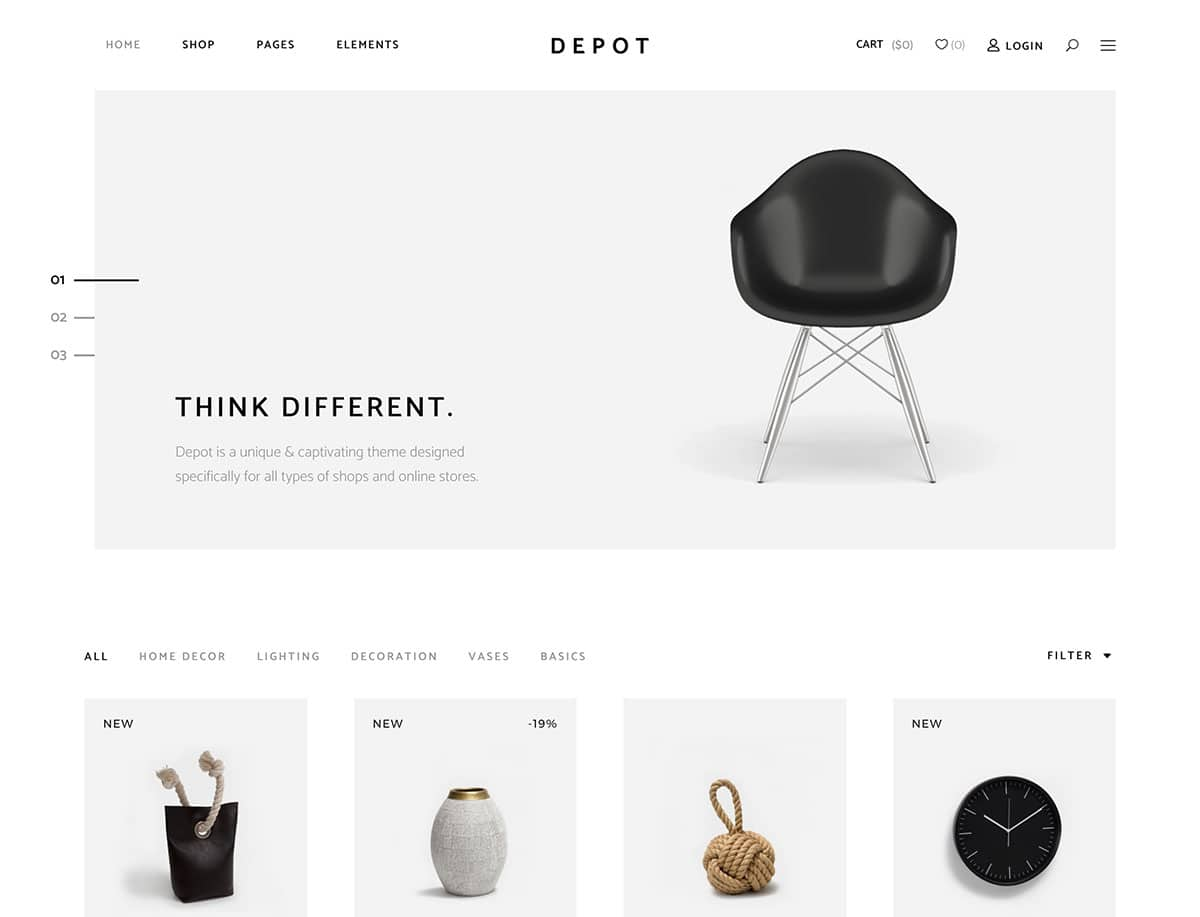 Depot - 46+ Top Best WordPress Themes For Ecommerce [year]