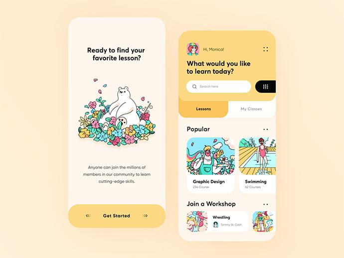 Design-Learning-Platform-App-Concept - 51+ Best Free Onboarding UI Mobile App Sample [year]