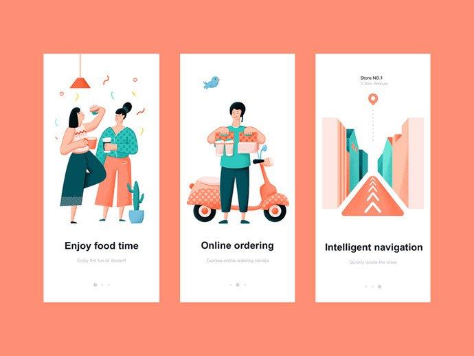 Dessert-Shop-Start-Page - 51+ Best Free Onboarding UI Mobile App Sample [year]