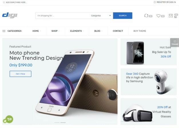 Digi - 31+ Top Amazon Style WordPress Themes [year]