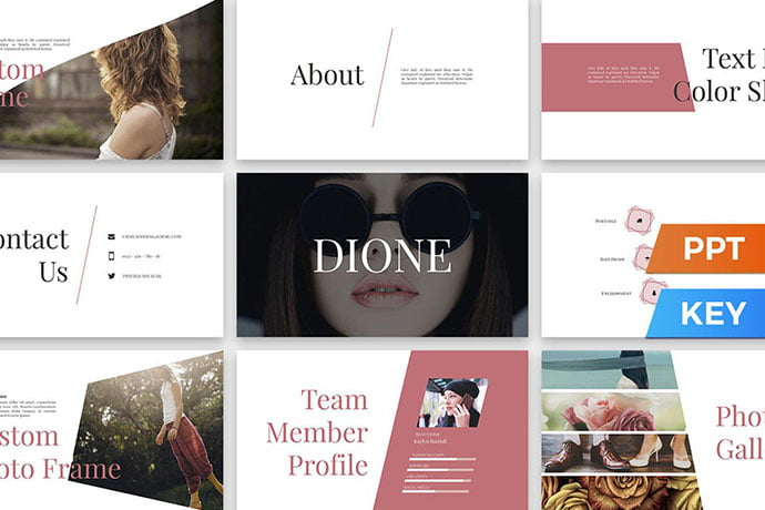 Dione - 36+ Attractive Typography Keynote Templates [year]