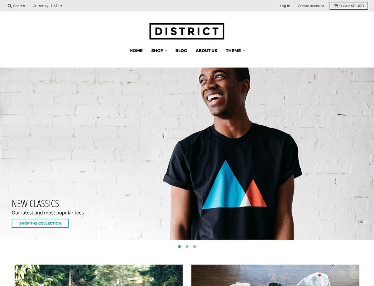 District - 41+ Awesome Shopify Themes For Your Business [year]