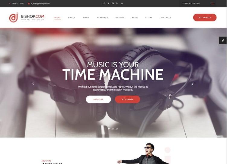 Dj-Bishop - 41+ Stunning Responsive Music Website Templates [year]