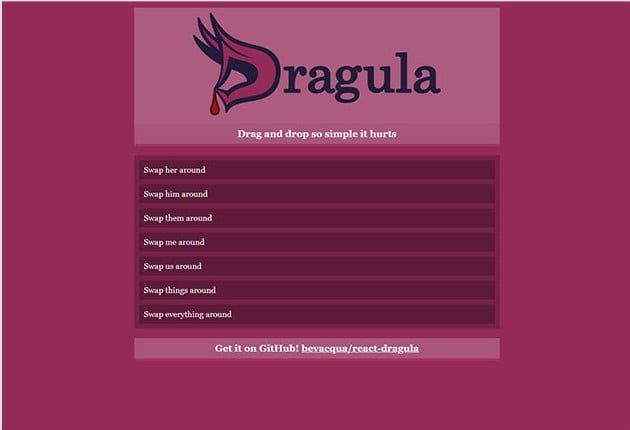 Dragula - 61+ Free React UI Component Libraries [year]
