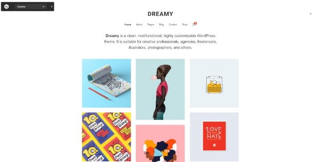 Dreamy-Lite - 31+ Nice Game UI Designer Portfolio WordPress Themes [year]