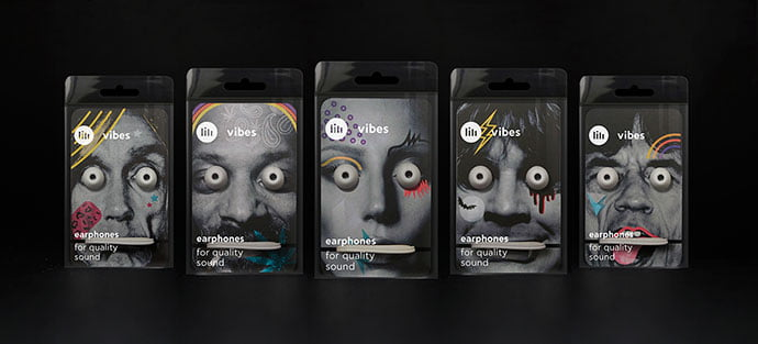 Earphones-Packaging - 38+ Awesome Free Packaging Designs that Automatically Sell [year]